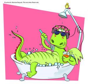 """Imágen principal del espectáculo """"Hay un dragón en mi bañera"""""""